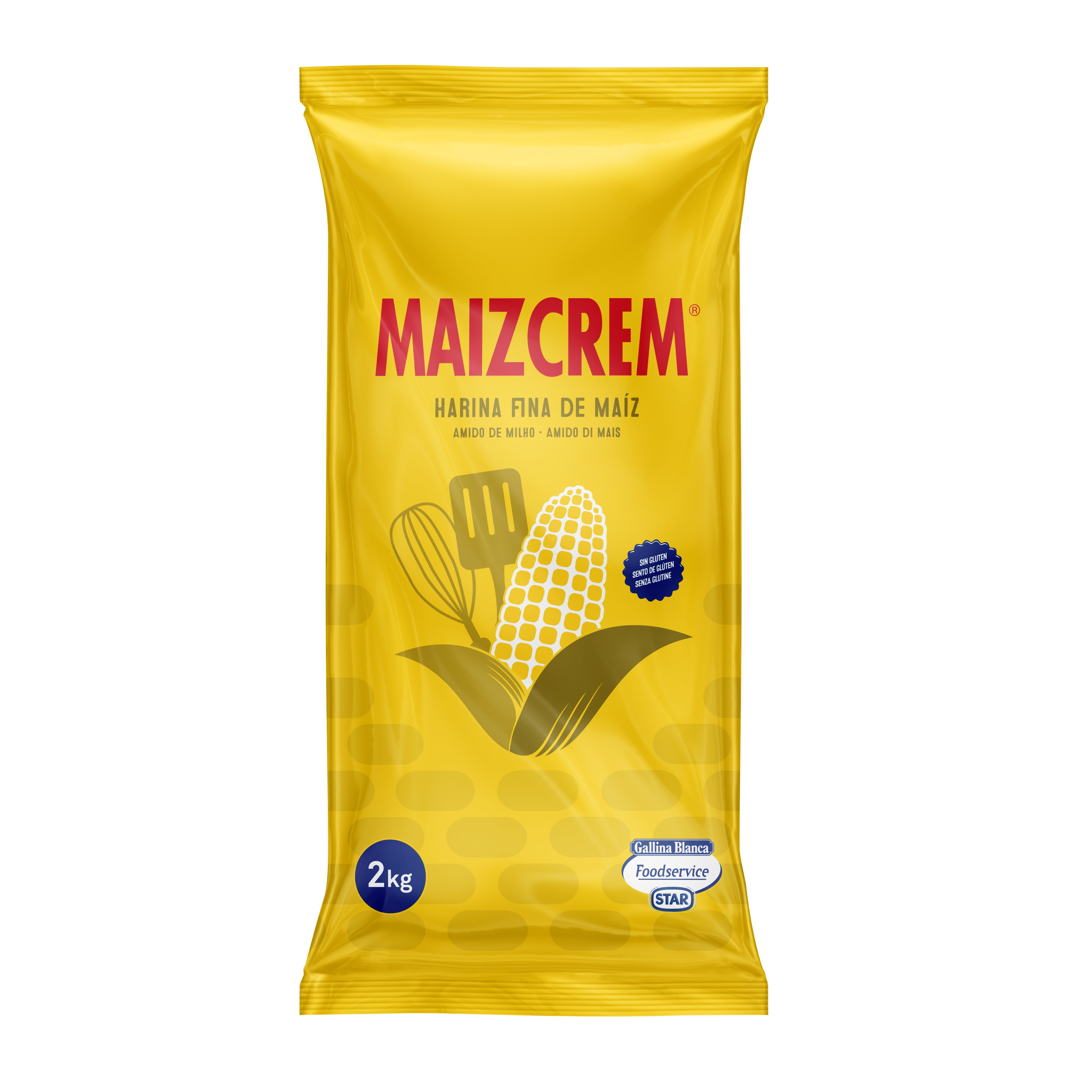Maizcrem, almidón de maíz para espesar, 2kg